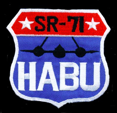 A Habu badge awarded to a Blackbird crew after an operational sortie.