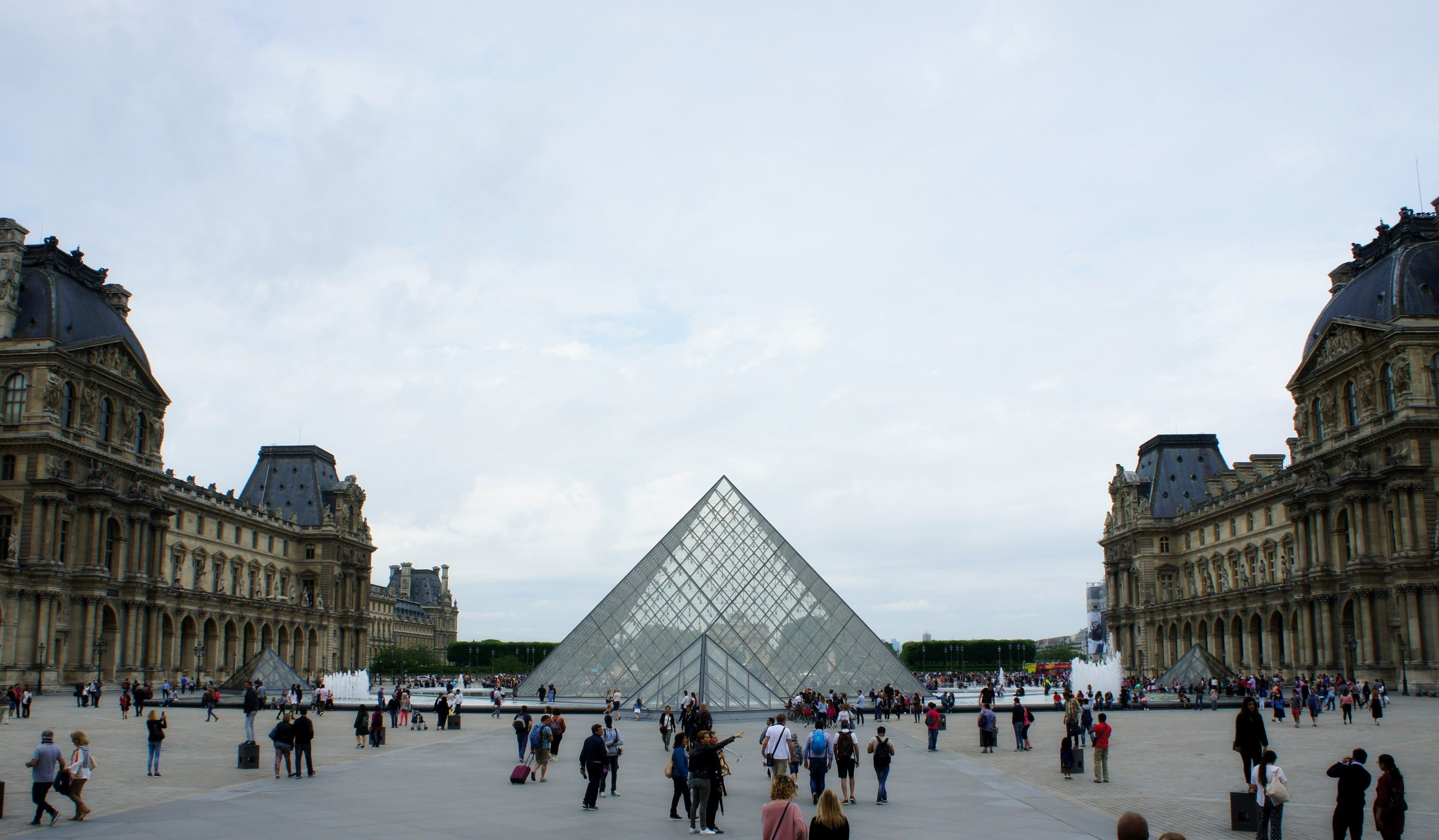 My first view of I.M. Pei's incredible entracne to The Louvre