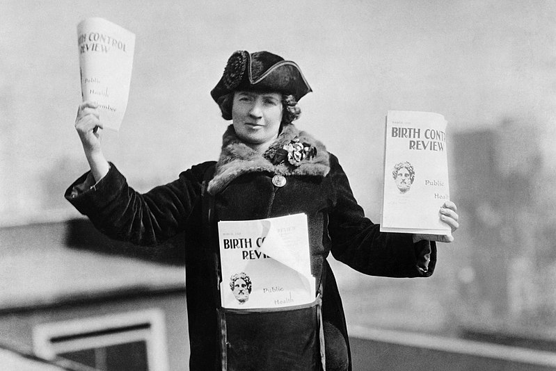 Kitty Marion selling the  Birth Control Review  in New York c1915
