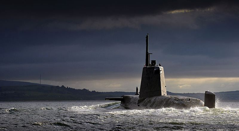 HMS  Ambush  (Astute-class) returning to HMNB Clyde. Photo Crown Copyright