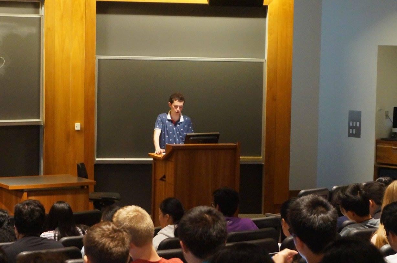 Instructor Danny Debois (Harvard '18) lecturing at VBI Philadelphia.