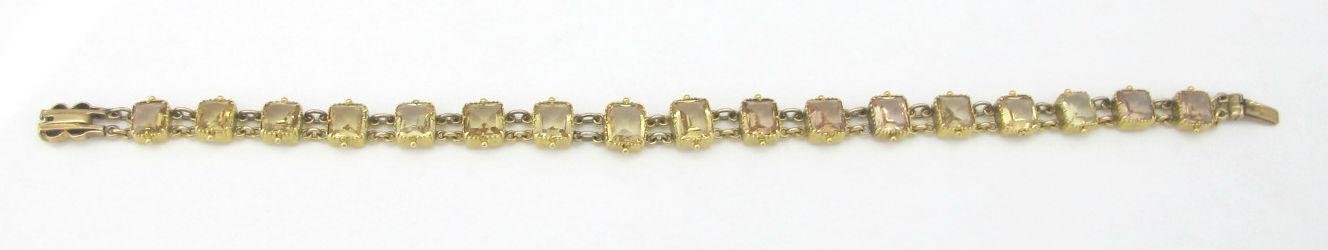 Georgian yellow topaz and 14k gold link bracelet, at Gray & Davis.