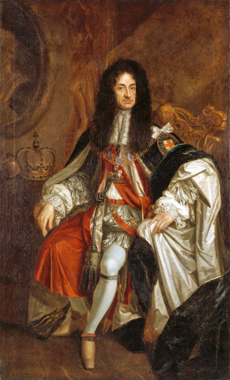 Charles II of England and his ruffles.