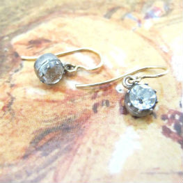 Small Georgian paste dangle earrings, at Gray & Davis