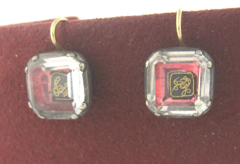 Georgian Stuart Crystal earrings in silver, 14k gold, made c.1820. Available at Gray & Davis.