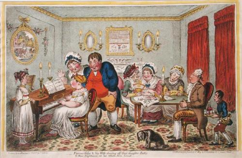 A Georgian holiday party, c.1808