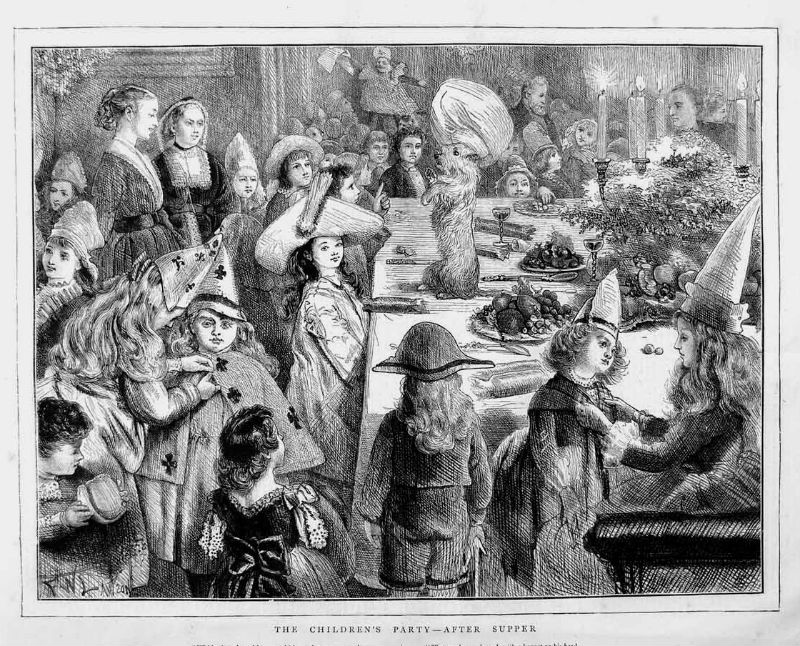 Victorian Christmas party, c.1873