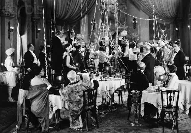 An Art Deco era holiday party.