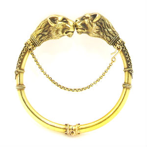 18k yellow gold bracelet, c. mid - late nineteenth century. Available at our 47th St. Shop!