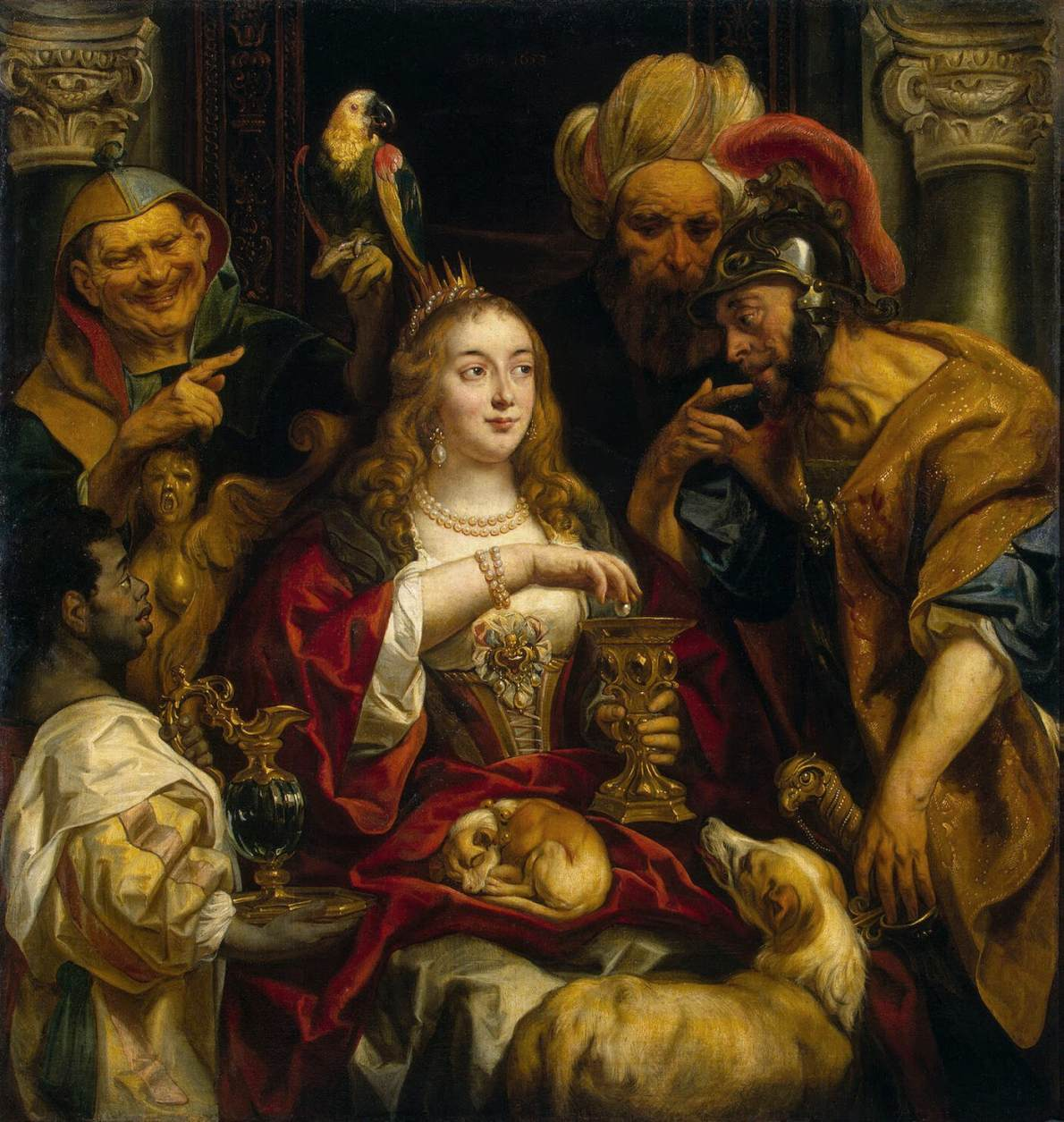 Jacob Jordaens, Cleopatra's Feast. Painted c. 1653.