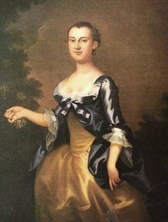 A portrait of young Martha Washington.