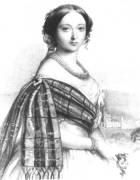 Illustration of Queen Victoria rocking some tartan.