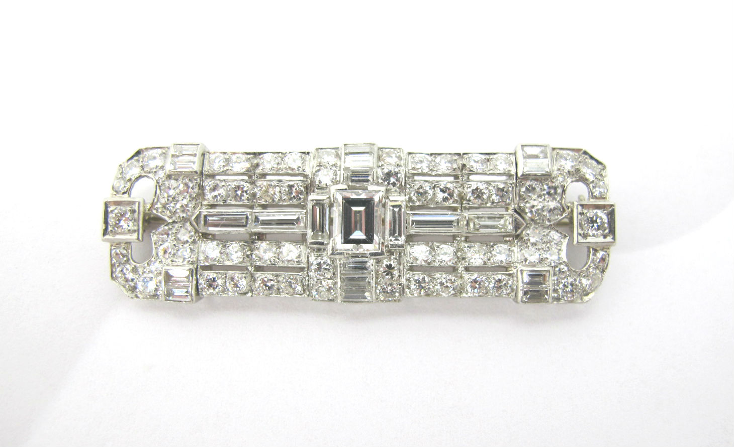 Art Deco diamond bar brooch, currently available in our online shop!