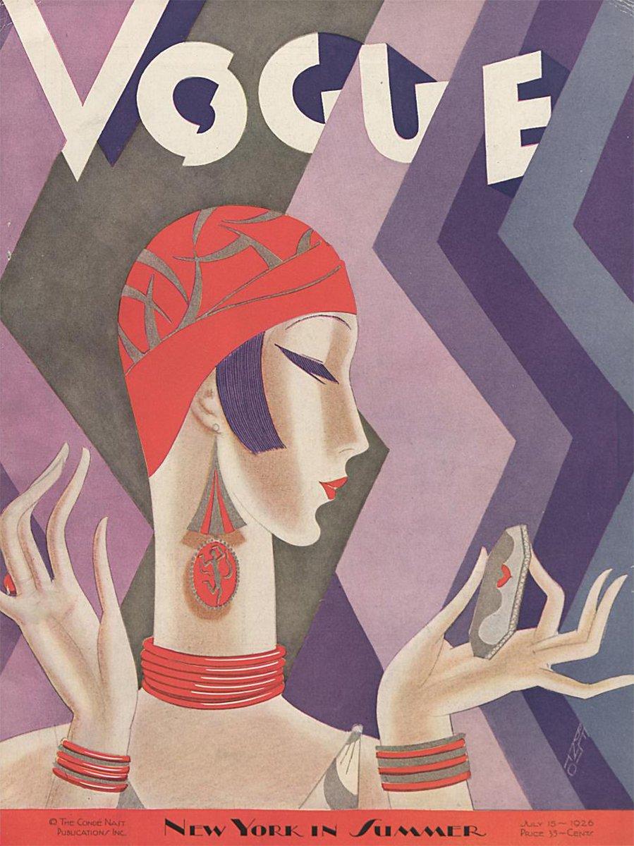 Vintage Vogue Covers From The Art Deco Era Gray Davis Antique Custom Jewelry