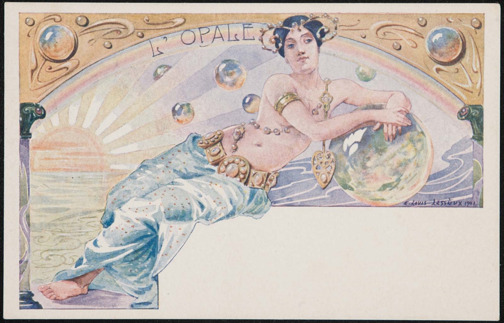 A magical opal lady, painted by Ernest Louis Lessieux in 1901. Museum of Fine Arts, Boston.