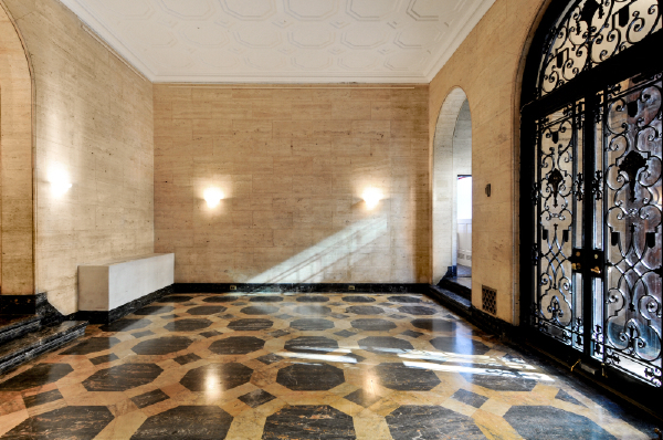 Entry hall at Academy Mansion, located at East 63rd St. and 5th ave.