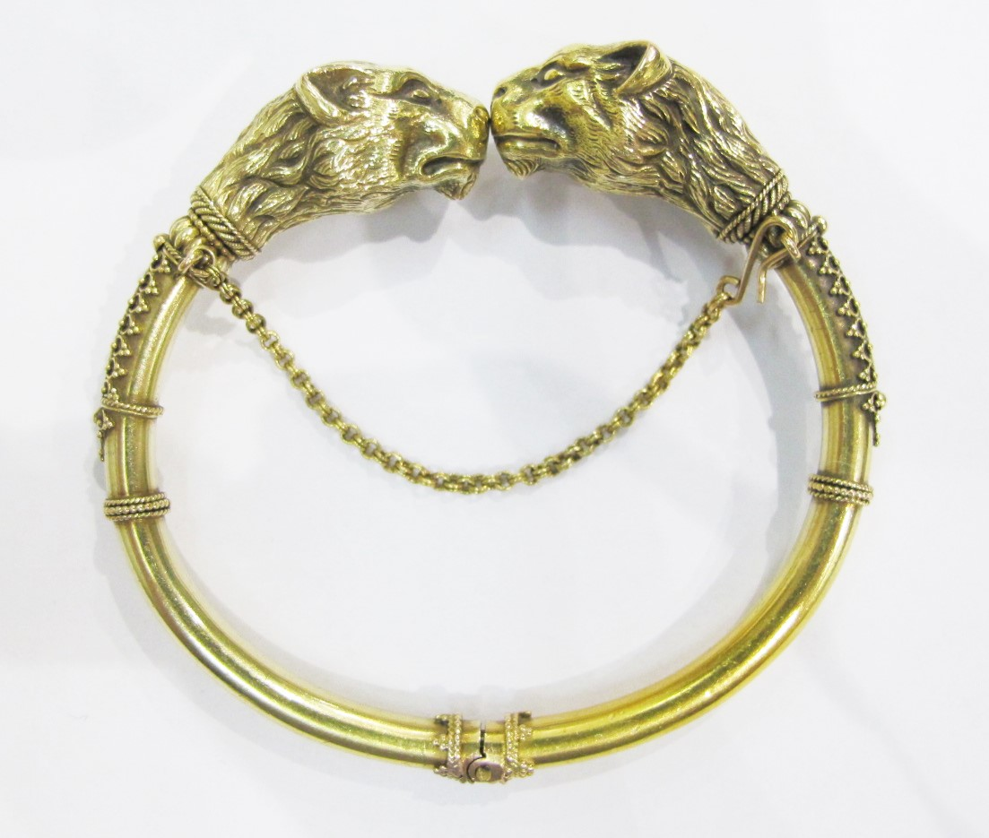 Bangle. 18k yellow gold, 19th century. Currently available at Gray & Davis.