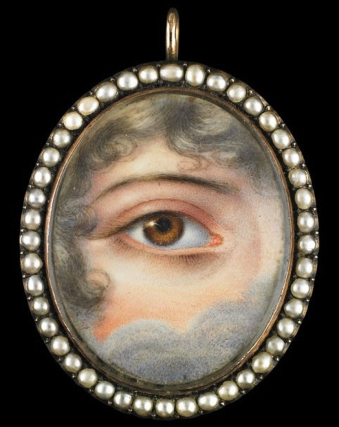 Lover's Eye miniature c. 1830, Winterthur Museum.