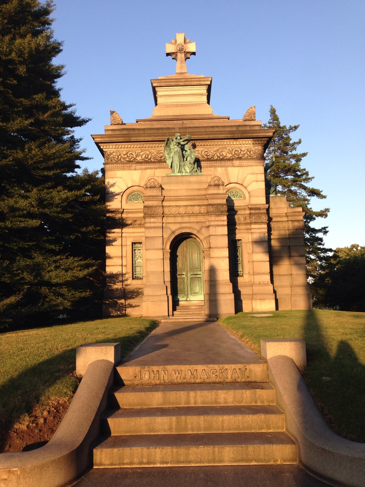 The Mackay Mausoleum, built in 1898 for $250,000.