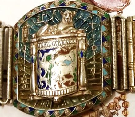 Bracelet; close up of cosmetic jar