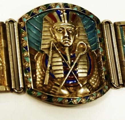 Bracelet; close up of Tut's sarcophagus