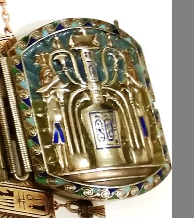 Bracelet; Close up of perfume bottle