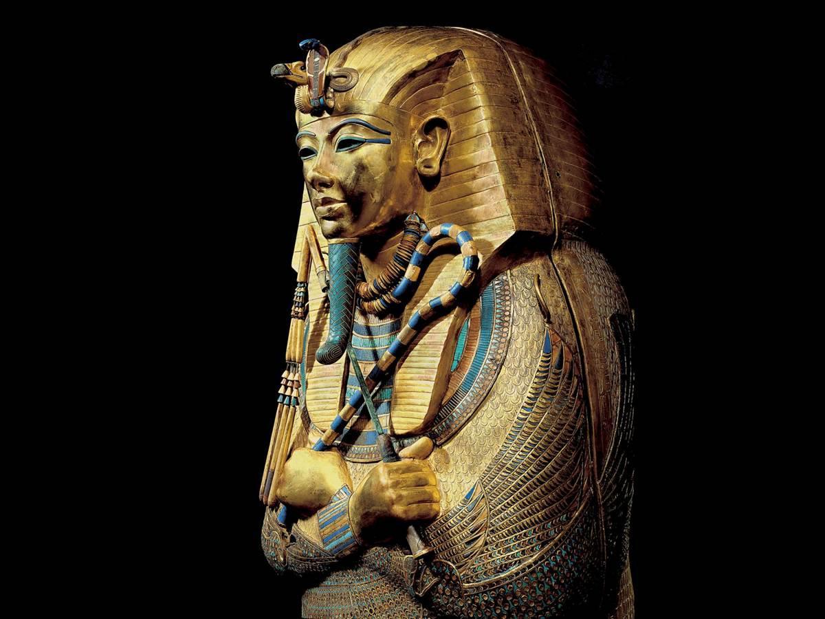 Tut's actual sarcophagus