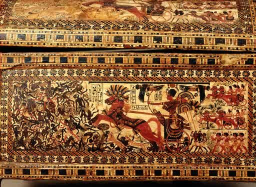 Actual wooden box in King Tut's tomb