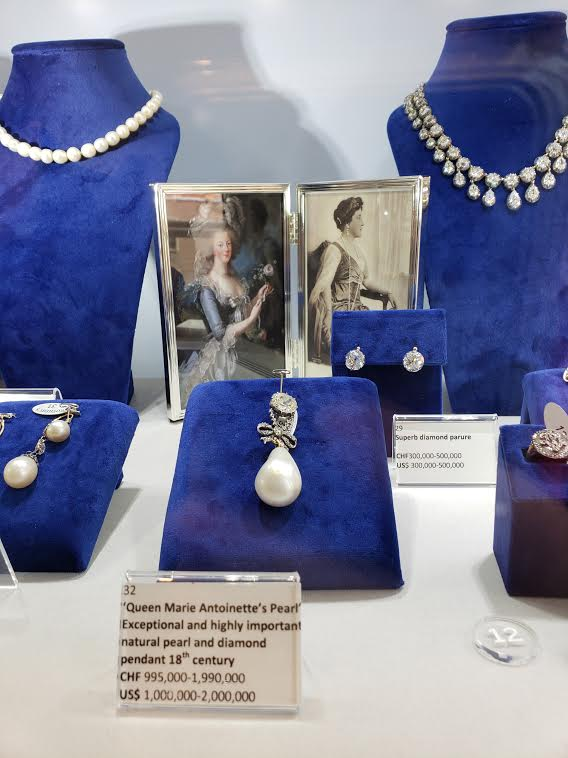 "Some of the ""Royal Jewels"" on display at Sotheby's New York showroom."