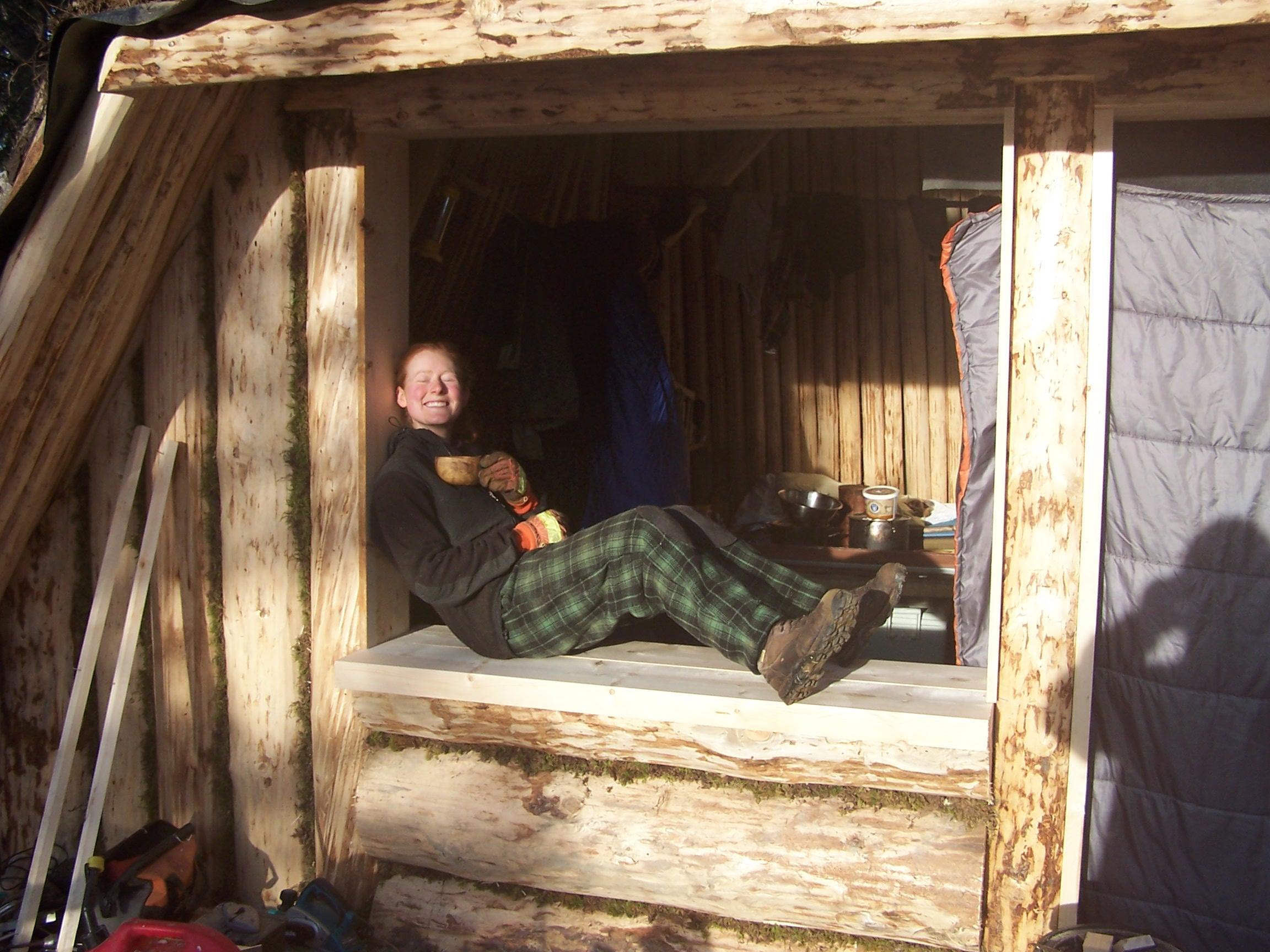The lodge pre-window and door.