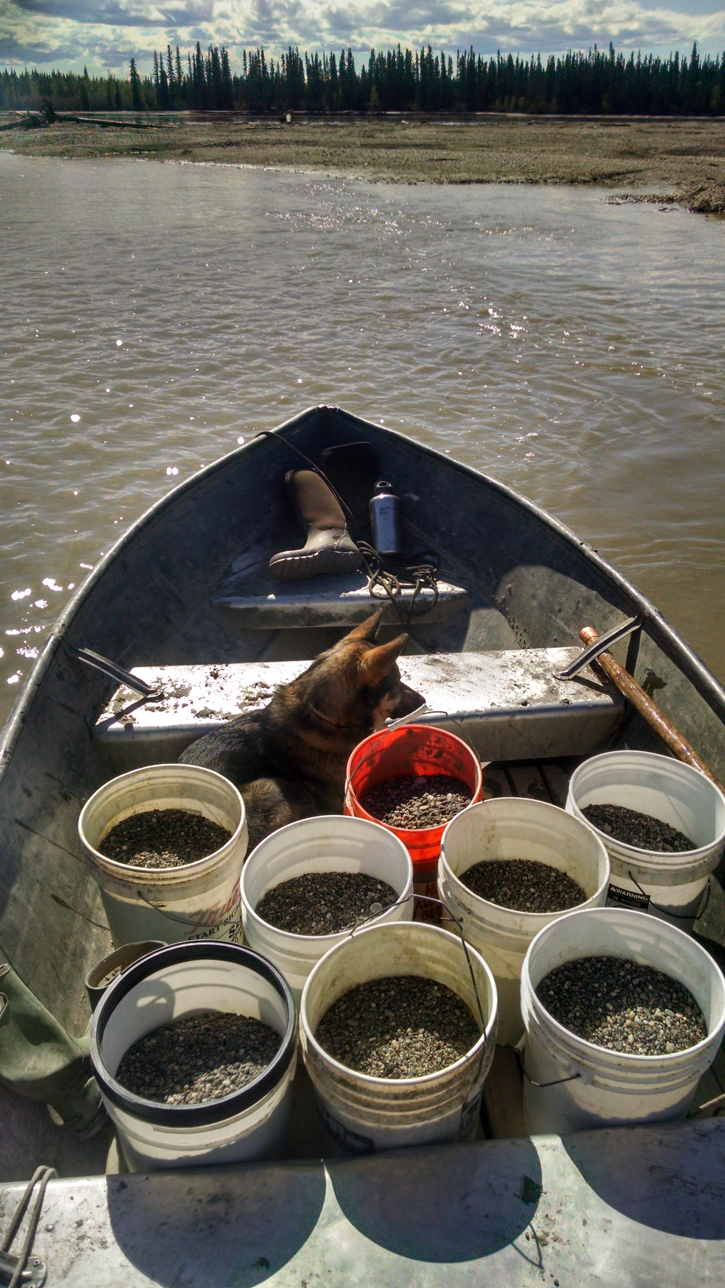 gravel in boat
