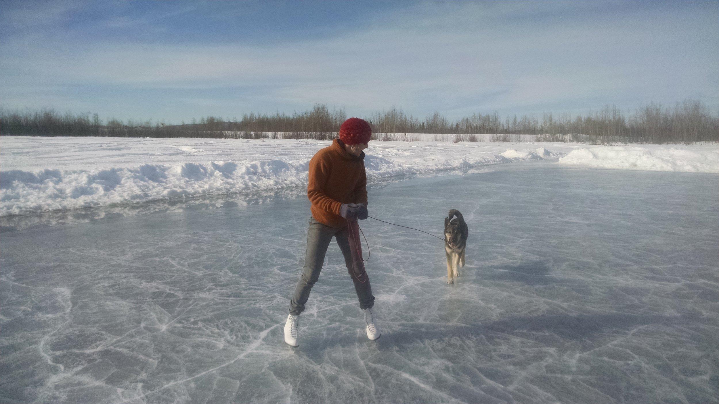 Bruce Lee training at Tanana Lakes ice rink