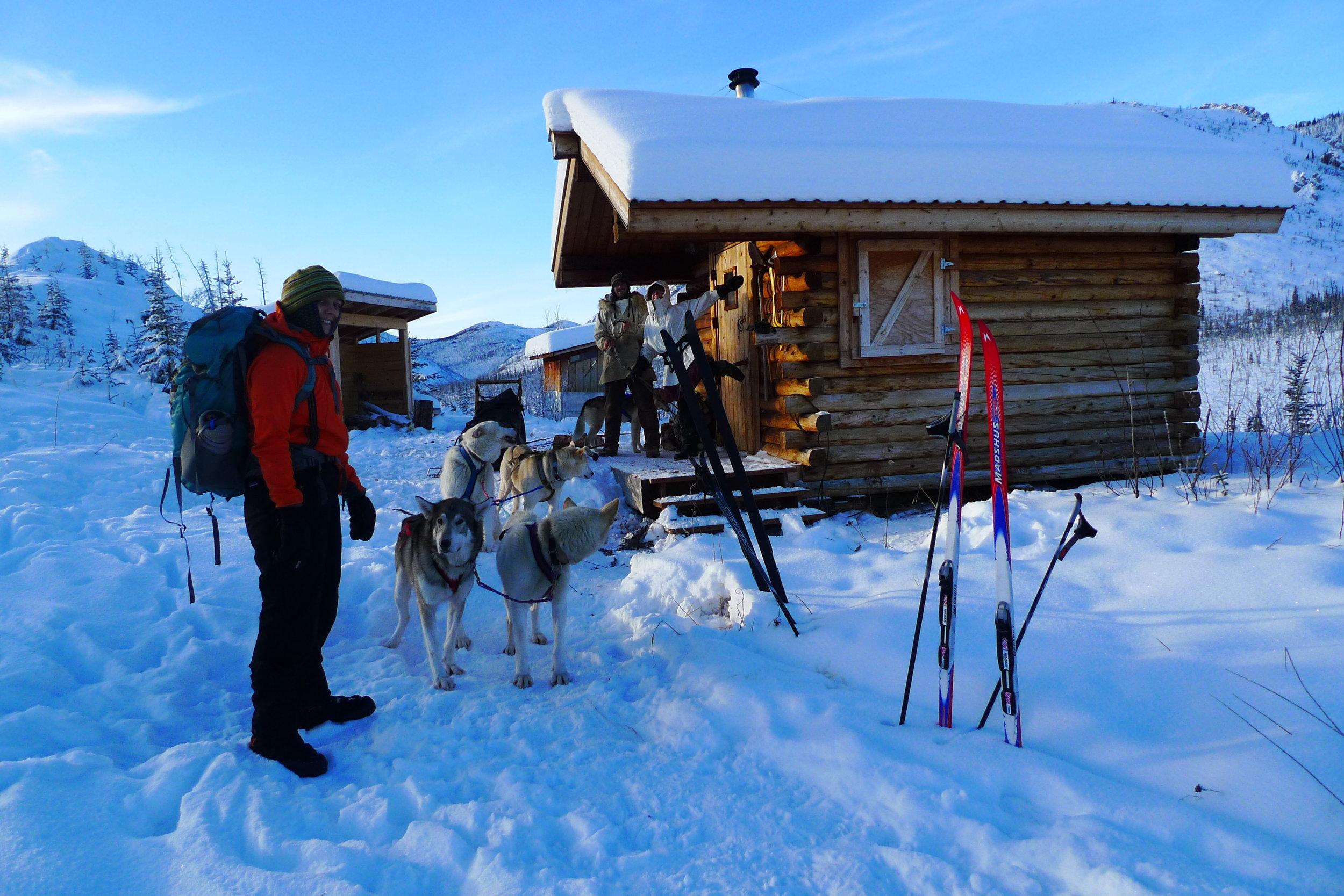 Goobers at Caribou Bluff cabin.JPG
