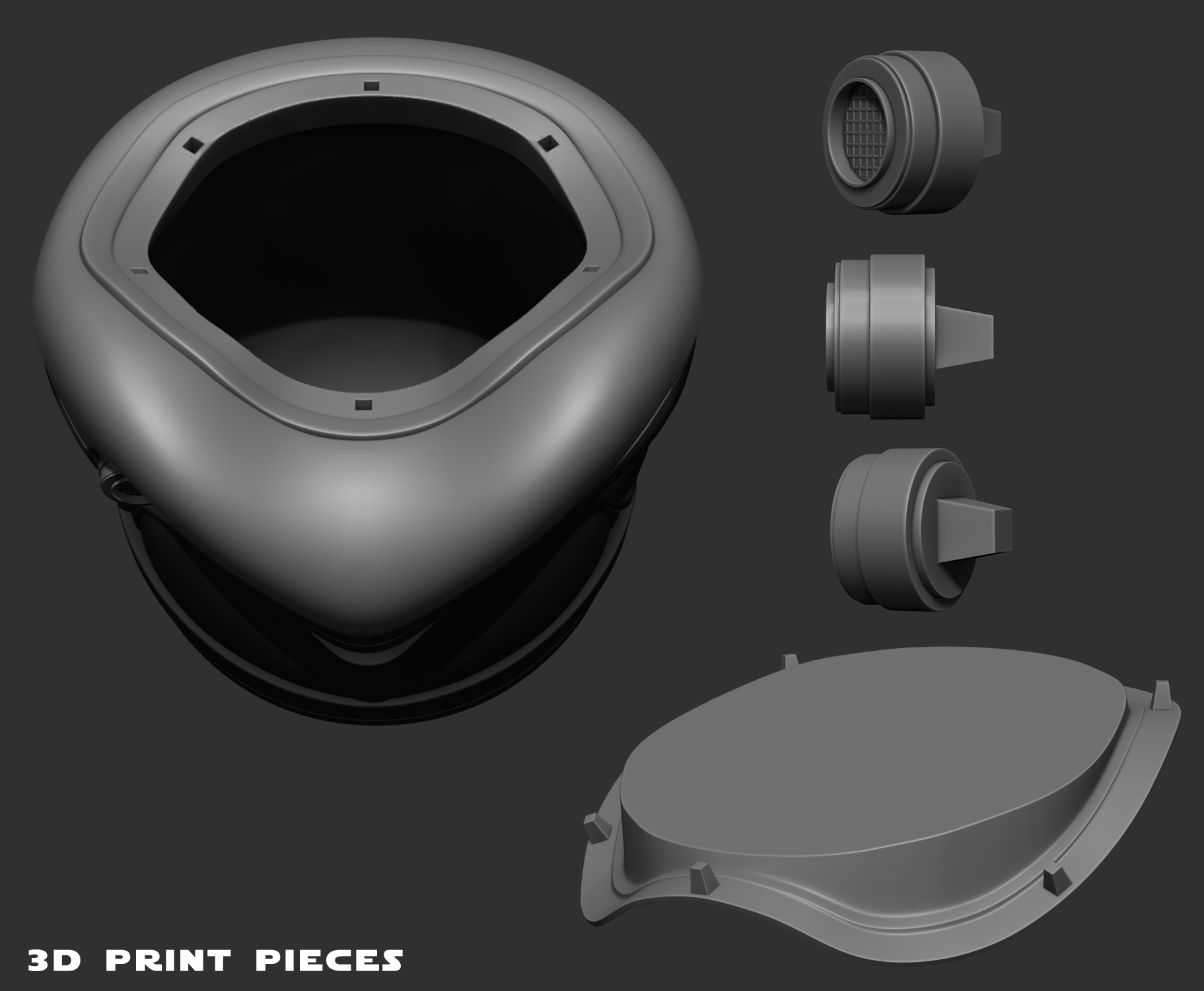 For fun I wanted to prep this model for 3D printing. Maybe soon I will send it off to the printers.