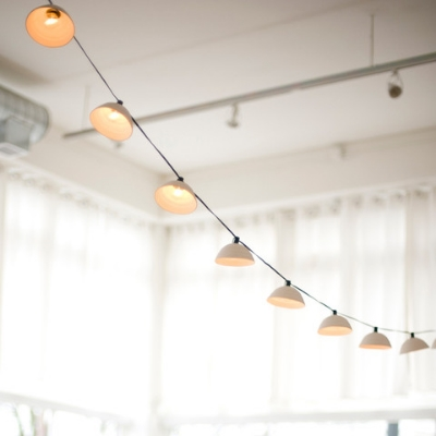 Pleated String Lights by Pigeon Toe Ceramics