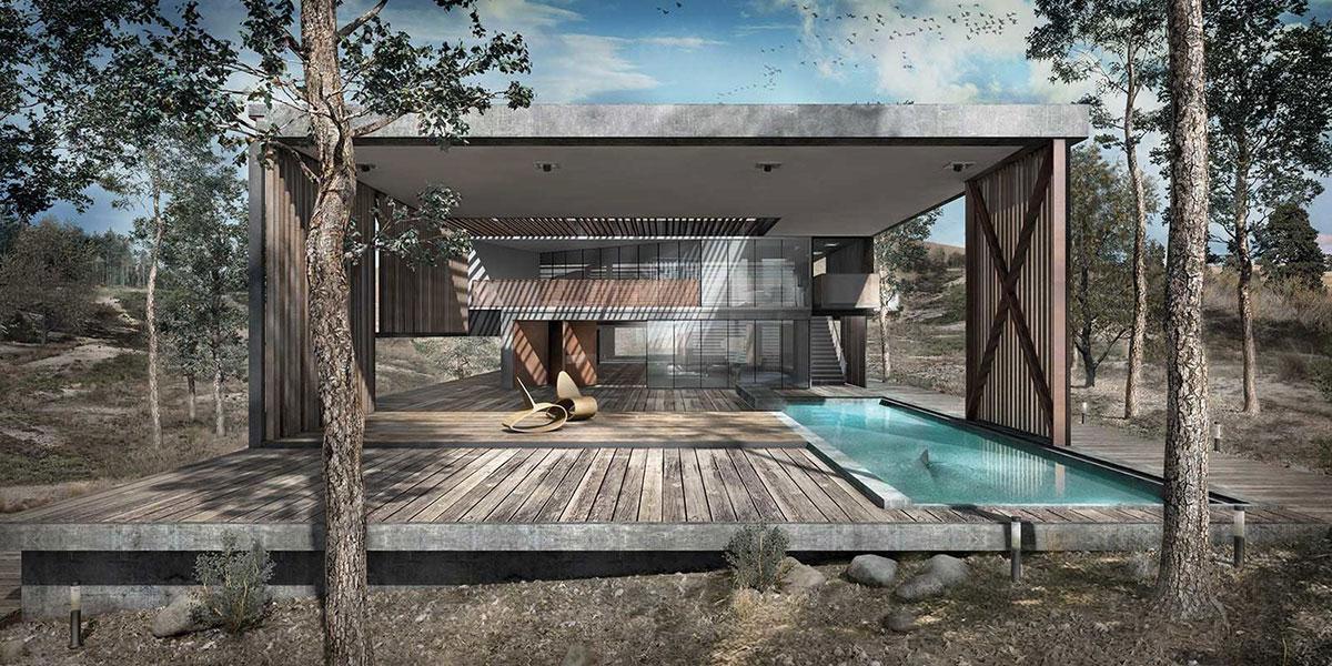 No-Nei House , linear villa, 2014