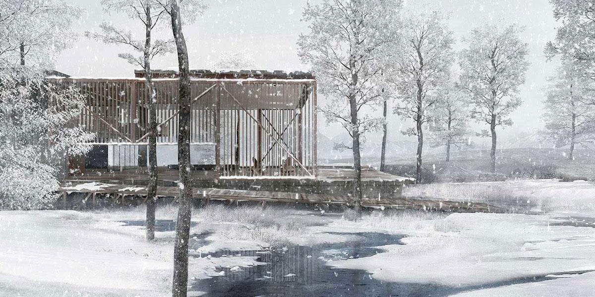 Mo-Nei House , linear villa, 2014