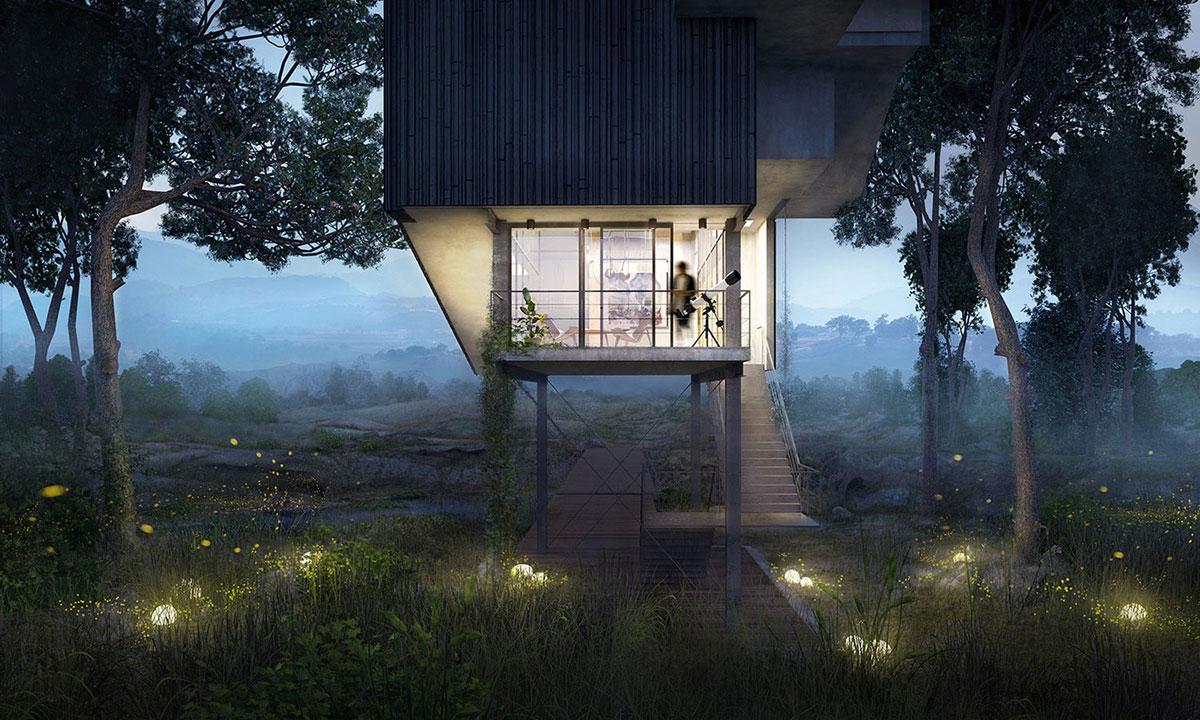 Oteiza House , raised house, 2015