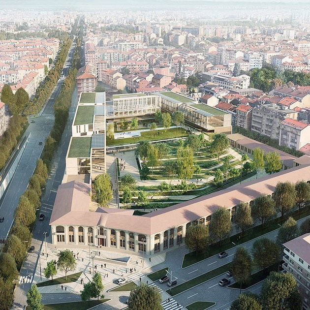 Torino Federal Building, aerial view for @iottipavarani . . . #architecture #rendering #archilovers #architecture_hunter #archishift #cgi #architecture_view #archiviz #instarchitecture #dailyrender #renderlovers #whatarender #arch_more #nature #landscaping #torino #garden