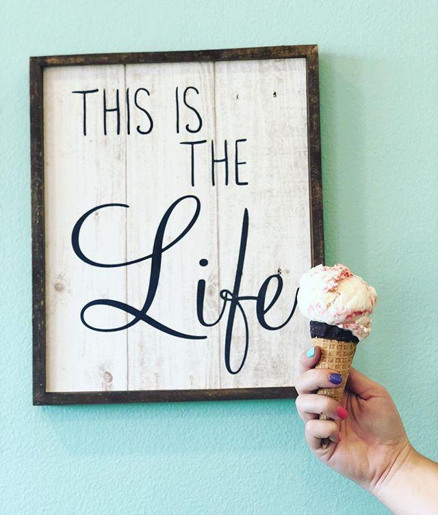 Yes this is the life! Ice cream in Gulf Shores @islandicecream!