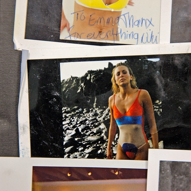 Production stills from that same, dreamy shoot