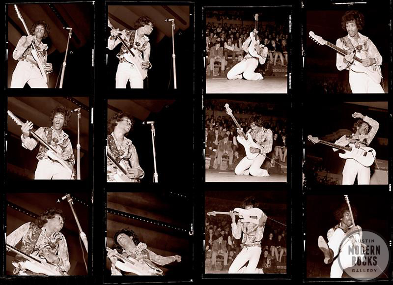 Jimi Hendrix contact sheet