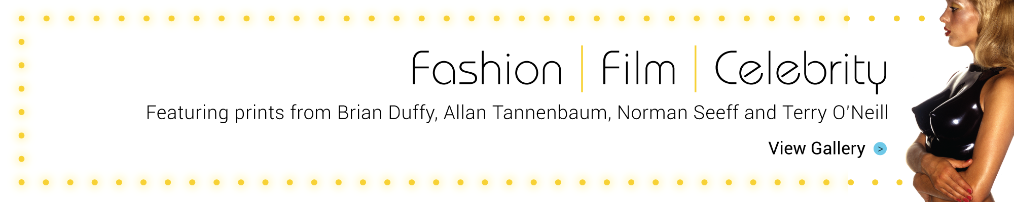 Film Fashion and Celebrity Banner