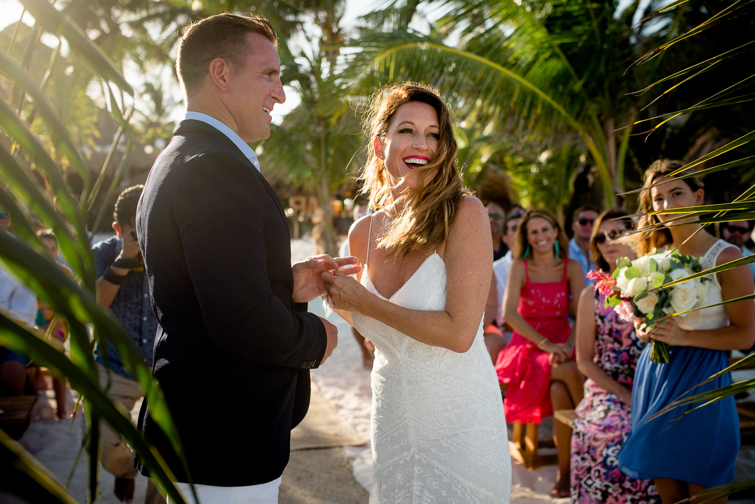 Betsy & John - WeddingAkiin Beach - Tulum
