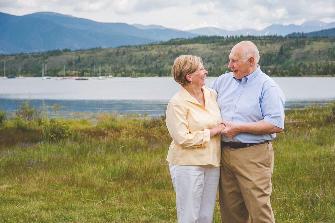 These two (the grandparents) have so much love between them, and it showed through in this sweet photo with Lake Dillon and the Colorado Mountains in the background. Happy Anniversary!