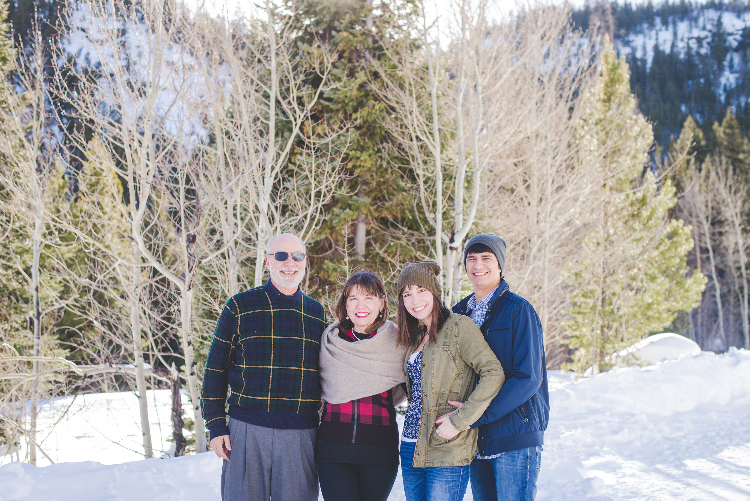 a sweet winter family photo in frisco, colorado