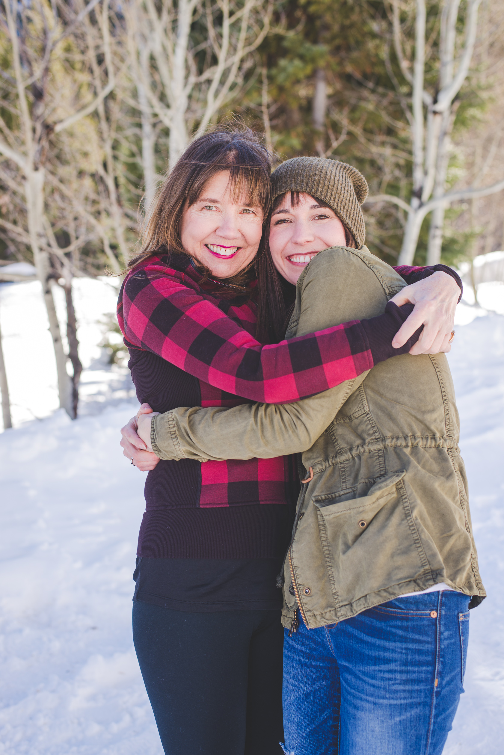 like mother, like daughter - these two got extra close during our family photo shoot in Frisco Colorado this winter!