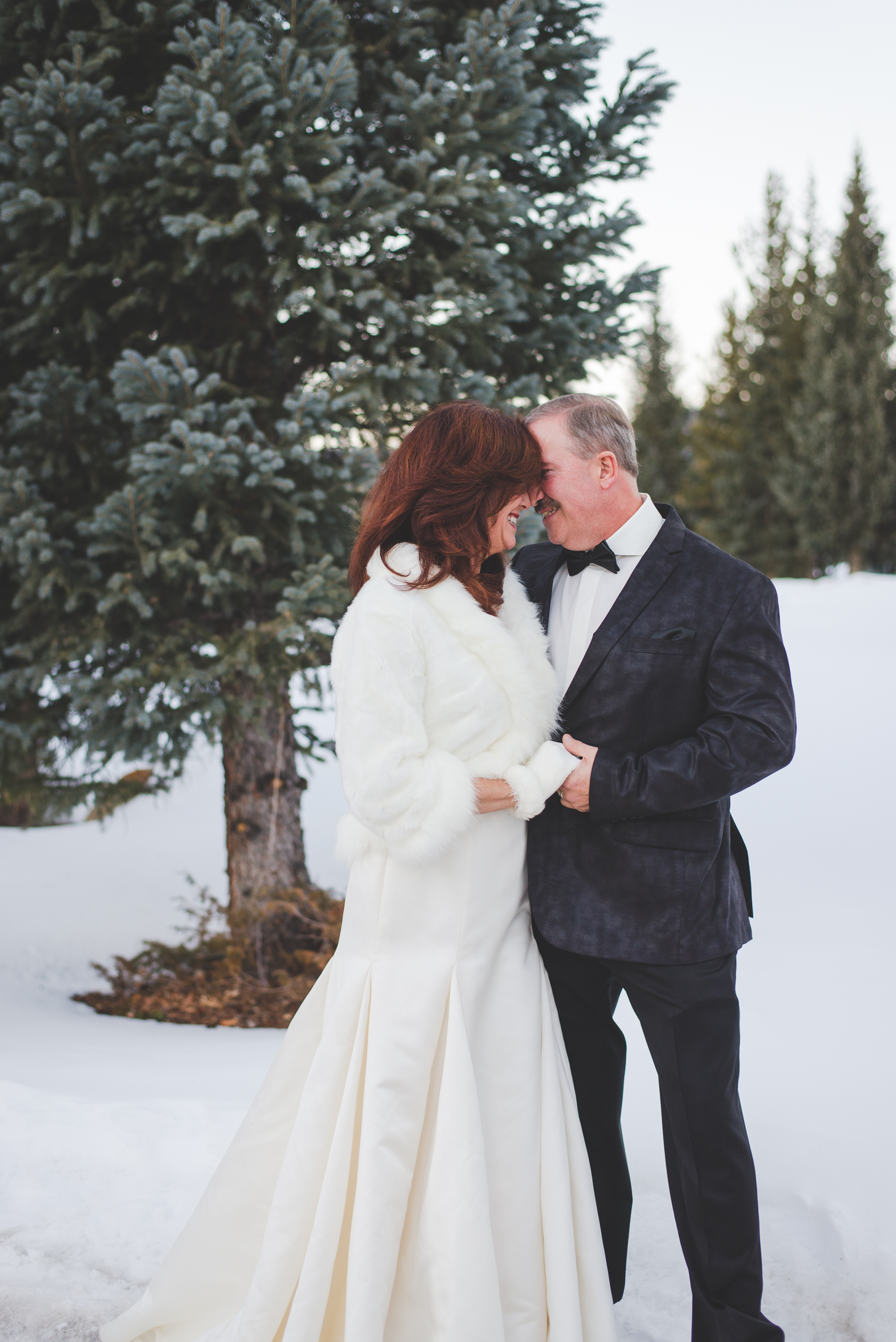 Giggles and laughter filled this intimate winter elopement in Keystone, Colorado