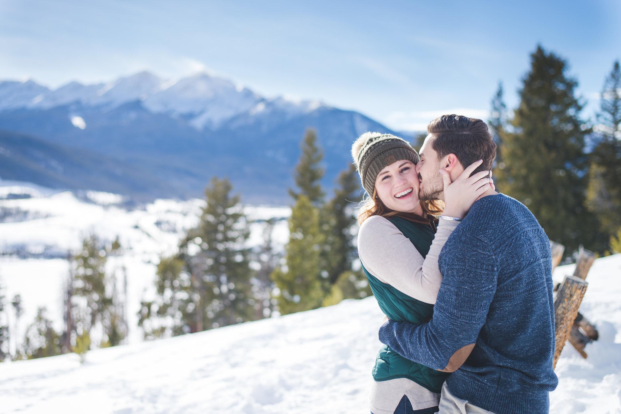 Colorado winter destination engagement photo session near Keystone and Dillon, Colorado   Keeping Composure Photography