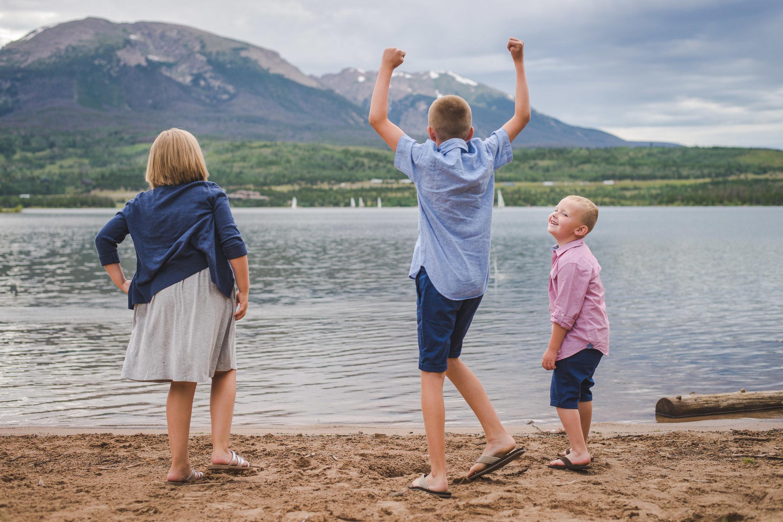 Summer Vacation Family Portraits at Lake Dillon and Frisco, Colorado | Keeping Composure Photography